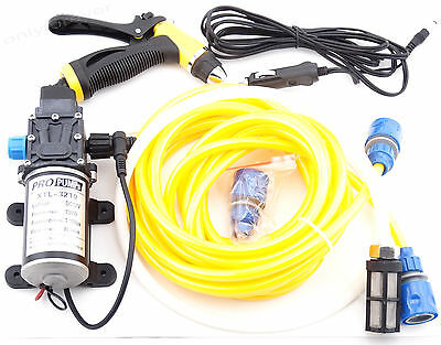 12V 100W High Pressure Water Pump Sprayer Car Washing Kit for Camping,Cleaning