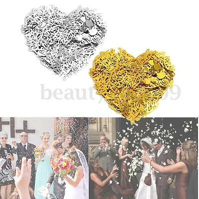 NEW 300PCS LOVE Wedding Confetti Heart Sequined Spilled Table Party Home Decor