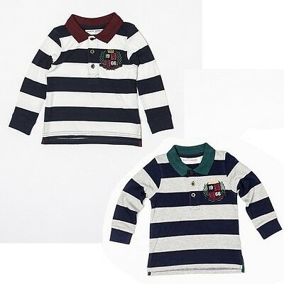 Baby boys rugby  t shirt top 6-12-18-24 months 1-2-3 years long sleeved gift