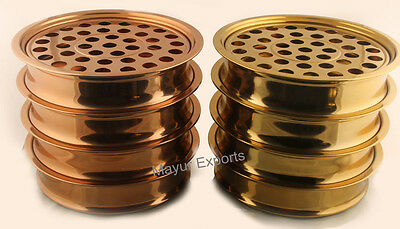 8 Trays Copper and Brass Finish Communion Trays Serve 40-Cups each RELIGIOUS EDH