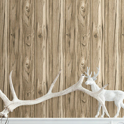 """Essentials Paneling Wide Plank 33' x 20.5"""" Wood Wallpaper Roll"""
