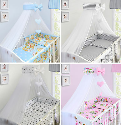 Baby Canopy Drape Mosquito Net With Holder To Fit Cot New Designs