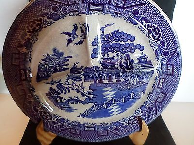 Blue Willow Grill Plate Made In England For B Altman Vintage