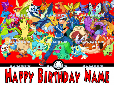POKEMON: personalized edible image cake toppers FREE SHIPPING