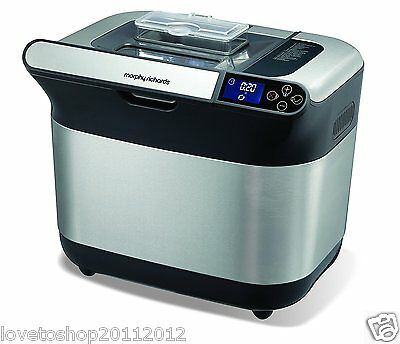 Morphy Richards Premium Plus Breadmaker Stainless Steel 48319