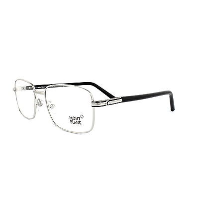 Mont Blanc Glasses Frames 0530 016 Shiny Palladium Black