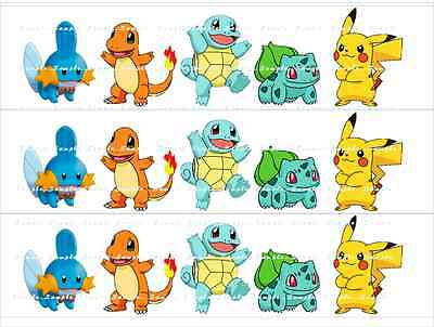 POKEMON CAKE STRIPS: personalized edible image cake toppers FREE SHIPPING