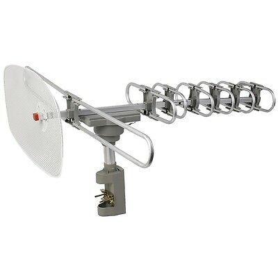 HDTV Remote Controlled HD TV Antenna VHF UHF DIGITAL HD Clear Antena Amplified