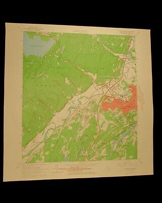Kingston West New York vintage 1966 original USGS Topographical chart