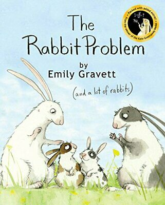 The Rabbit Problem by Emily Gravett Paperback Book The Cheap Fast Free Post