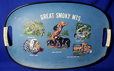 Vintage Great Smoky Mountains Serving Tray / Platter Decorative TN Collectible
