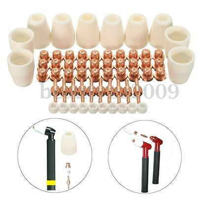 60pcs Plasma Tips Electrodes Cutter Set For LG-40 PT-31 Cutting Torch CUT40 50