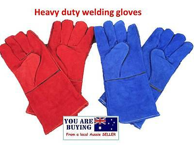 4 x pairs High Temperature Welding Wear-resisting  Leather Gloves Safety Comfort
