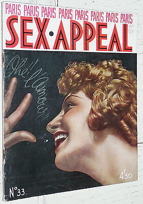 Paris Sex Appeal N°33 Avril 1936 Charme Photos Erotisme + Page Poster Couleurs