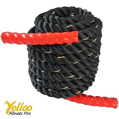 CORDA Power FUNE Per Allenamento CrossFit Rope Fitness 12 metri x 38 mm ROSSA