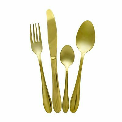 Style 2 - 16 Piece Royal Accent Gold Plated Stainless Steel Cutlery Set