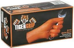 Tiger Grip Orange Nitrile Gloves *Highest Quality Nitrile* LARGE