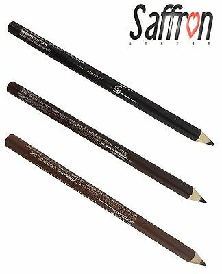 Saffron Waterproof Eyebrow Pencil Black, Blonde, Dark Brown