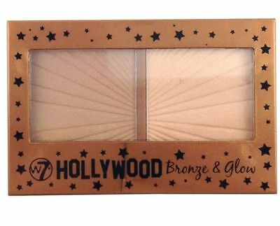 W7 WSeven Hollywood Bronze & Glow. Bronzer and Highlighter Duo