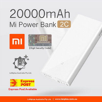 Genuine Xiaomi Mi 2C 20000mAh QC 3.0 Power Bank Dual USB Battery Fast Charge