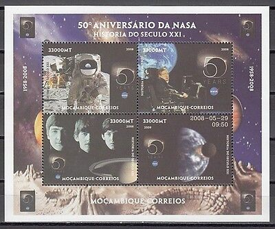 """"""" Mozambique, 2008 issue. 50th Anniversary of NASA s/sheet."""