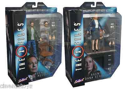 X-Files Fox Mulder & Dana Scully set 2 Action Figures Diamond Select Toys TV