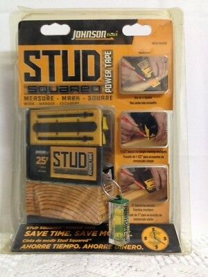 Johnson Stud Squared 25 Ft Power Tape - Measure,Mark & Square NEW Free Shipping