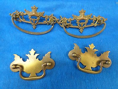 2 pairs of handles brass vintage