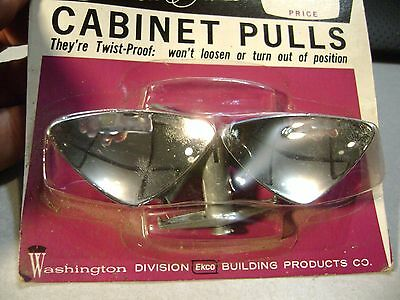 Mid Century Solitaire Washington hardware Cabinet Pull  Polished Chrome 1323cd26