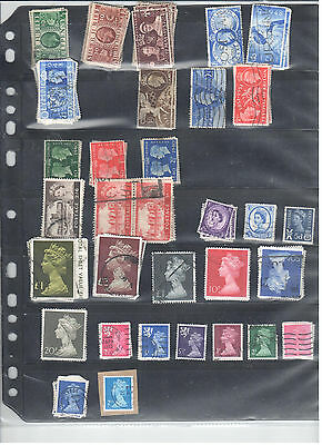 Collection of Great Britain on a single stocksheet