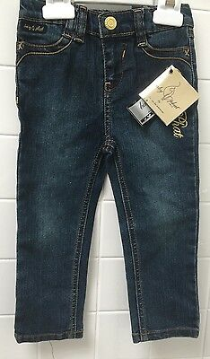 Girls Size 2 Baby Phat Denim Jeans Stretch New BNWT Rap Hip Hop Rock Casual