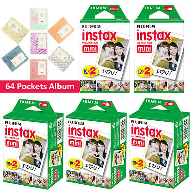 Fujifilm Fuji Instax Mini White Film Instant Photos 7s 8 25 50s 90 Polaroid 300