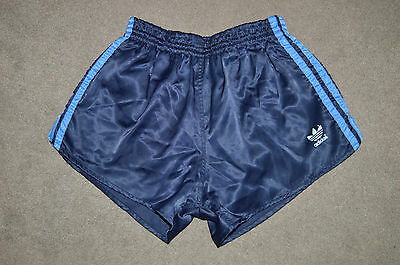 ADIDAS SPRINTER NYLON RUNNING SHORTS OLDSCHOOL VINTAGE RETRO SHINY 80s 70s D5 S