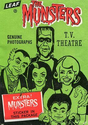 1964 Leaf THE MUNSTERS Trading Card COMPLETE SET of 72 ALL PSA GRADED w/ WRAPPER