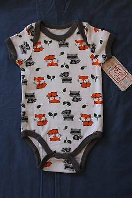 NEW Baby Boys Bodysuit 6 - 9 Months Creeper Outfit 1 Piece Fox Raccoon Racoon