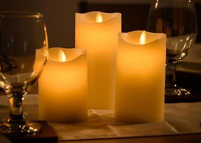 Set of 3 Cream Dancing Flame LED Candles Premier Christmas Decorations