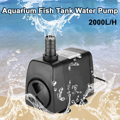2000 L/H Submersible Aqua Aquarium Fountain Pond Marine Water Pump Fish Tank AU
