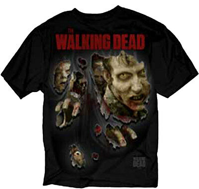 Official The Walking Dead Walkers About To Rip Through Adult Zombies T-Shirt