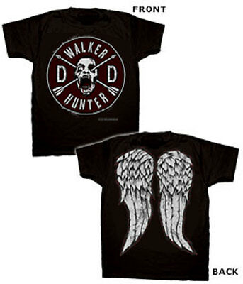 Official The Walking Dead Daryl Faux Patch and Wings T-Shirt -Negan Rick Michonn