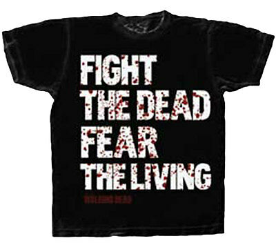 Official The Walking Dead Fight the Dead Fear The Living Adult Zombies T-Shirt