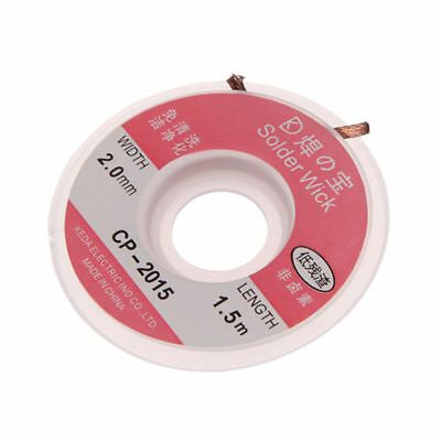 5Ft 2.0 mm Desoldering Braid Solder Remover Wick Copper Spool Wire Cable 1.5m US