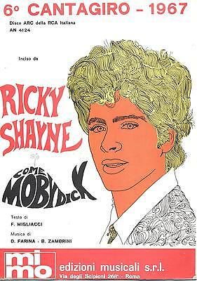 Spartito N55 - RICKY SHAYNE - Come Moby Dick - NOTTE BEAT - 1967