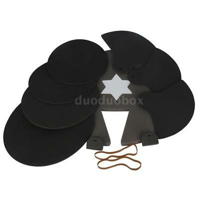 8-Piece Drum Set Silencer Practice Pads Mute with Cymbal Mutes W9O8