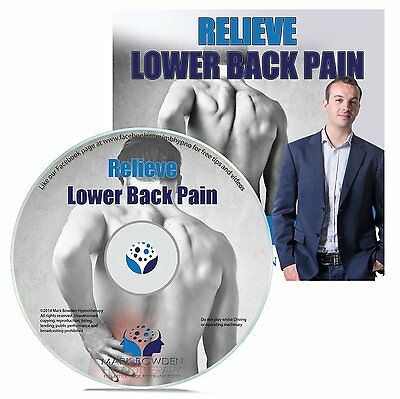 Relieve Lower Back Pain Hypnosis CD + FREE MP3 VERSION Natural Treatment lumbar