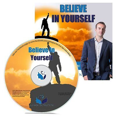 Believe In Yourself Hypnosis CD +  FREE MP3 VERSION grow your self confidence