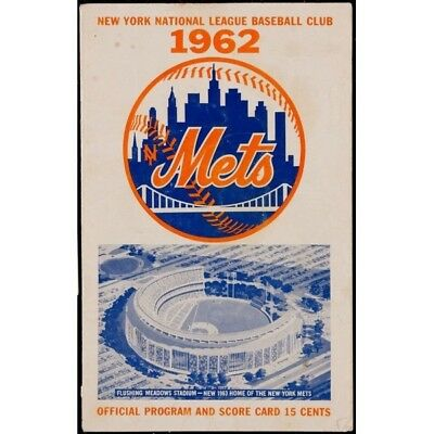 New York Mets - 1962 New York Mets Program & Ticket Stub