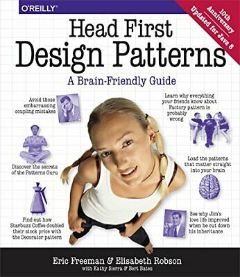 Head First Design Patterns by Kathy Sierra Paperback Book The Cheap Fast Free