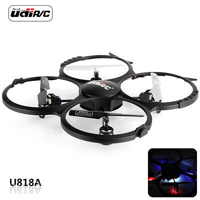 UDI U818A 2.4GHz 4CH 6-Axis Gyro RC Quadcopter Drone RTF with HD Camera Black