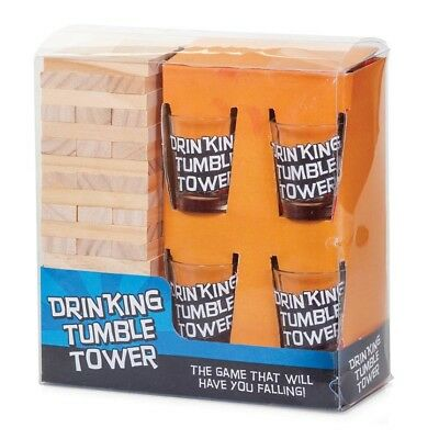 Drinking Shot Jenga Tower Game Adult Hen Stag Do Birthday Party Pub Fun New