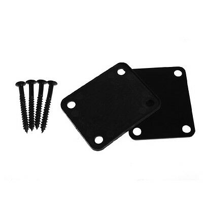 Neck Plate W/ Screw Fit For Start Tele Screws Black